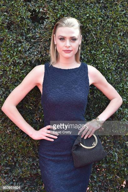 Hayley Erin attends the 2018 Daytime Emmy Awards Arrivals at Pasadena Civic Auditorium on April 29 2018 in Pasadena California