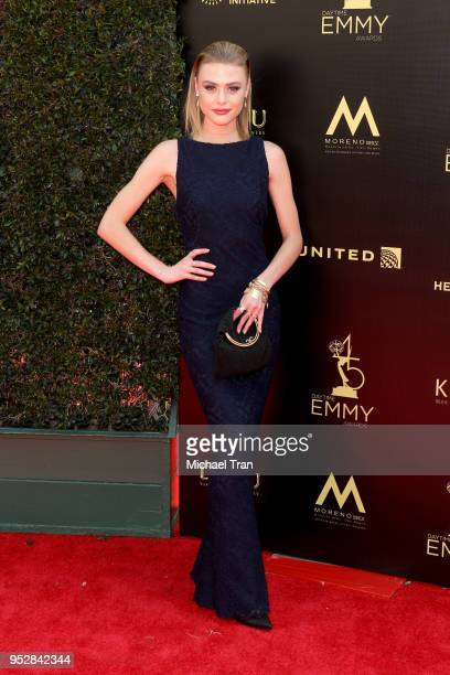 Hayley Erin attends the 45th annual Daytime Emmy Awards at Pasadena Civic Auditorium on April 29 2018 in Pasadena California