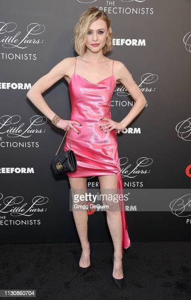 Hayley Erin attends the Pretty Little Liars The Perfectionists Premiere at Hollywood Athletic Club on March 15 2019 in Hollywood California