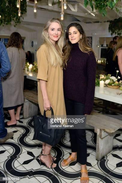 Hayley Feldman and Ally Walsh attend Jenni Kayne Home Collection Launch at Malibu Farm on October 11 2017 in Malibu California