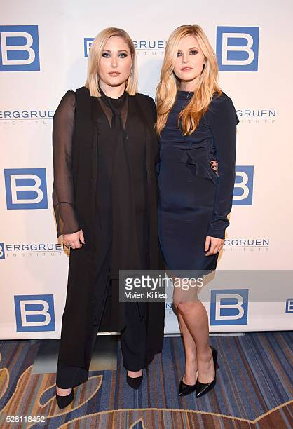 Hayley Hasselhoff and Ana MulvoyTen attend the Berggruen Institute 5 Year Anniversary Celebration at The Beverly Wilshire on May 3 2016 in Los...