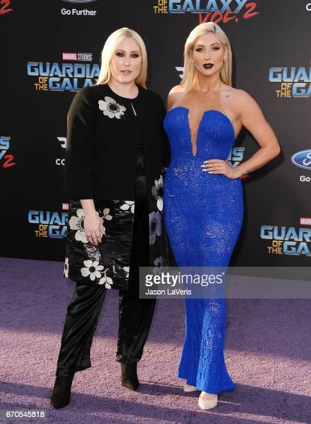 Hayley Hasselhoff and Taylor Ann Hasselhoff attend the premiere of Guardians of the Galaxy Vol 2 at Dolby Theatre on April 19 2017 in Hollywood...