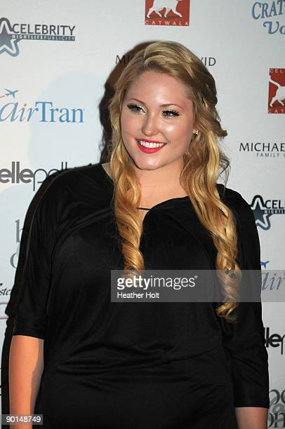 Hayley Hasselhoff arrives on the red carpet at the Celebrity Catwalk's 9th Annual Fashion Show on August 27 2009 in Los Angeles California