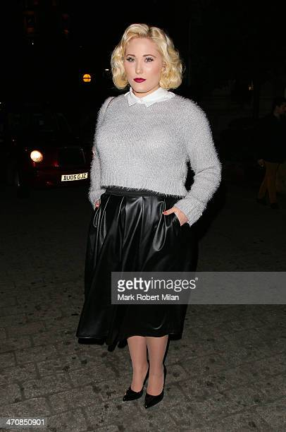 Hayley Hasselhoff attends a one night private view of 'Cocktails With Monroe' at the Langham Hotel on February 20 2014 in London England