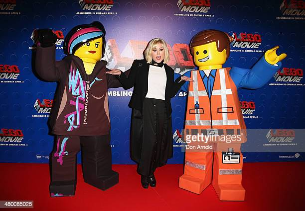 Hayley Hasselhoff attends the Sydney premiere of The LEGO Movie at Event Cinemas on March 23 2014 in Sydney Australia