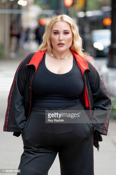 Hayley Hasselhoff promotes plus size activewear collection at Marina Rinaldi Boutique on July 08 2019 in New York City