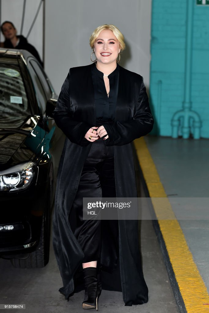 Hayley Hasselhoff seen at the ITV Studios on February 8, 2018 in London, England.