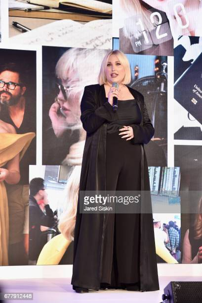 Hayley Hasselhoff speaks on stage during the POPSUGAR 2017 Digital NewFront at Industria Studios on May 3 2017 in New York City