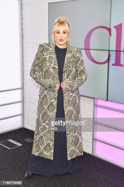 Hayley Hasselhoff visits Closer at Bauer Media on October 10 2019 in London England