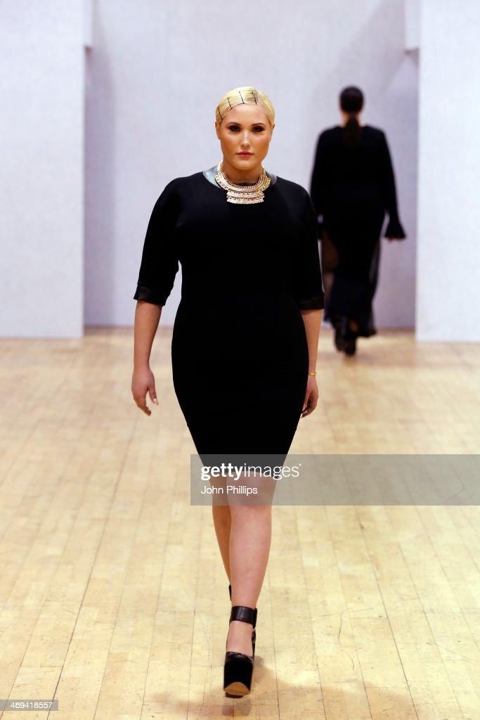 Plus Size Fashion Weekend - London Fashion Week AW14 : News Photo