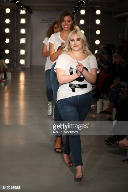 Hayley Hasselhoff walks the SimplyBe 'Curve Catwalk' during London Fashion Week on September 14 2017 in Soho London England