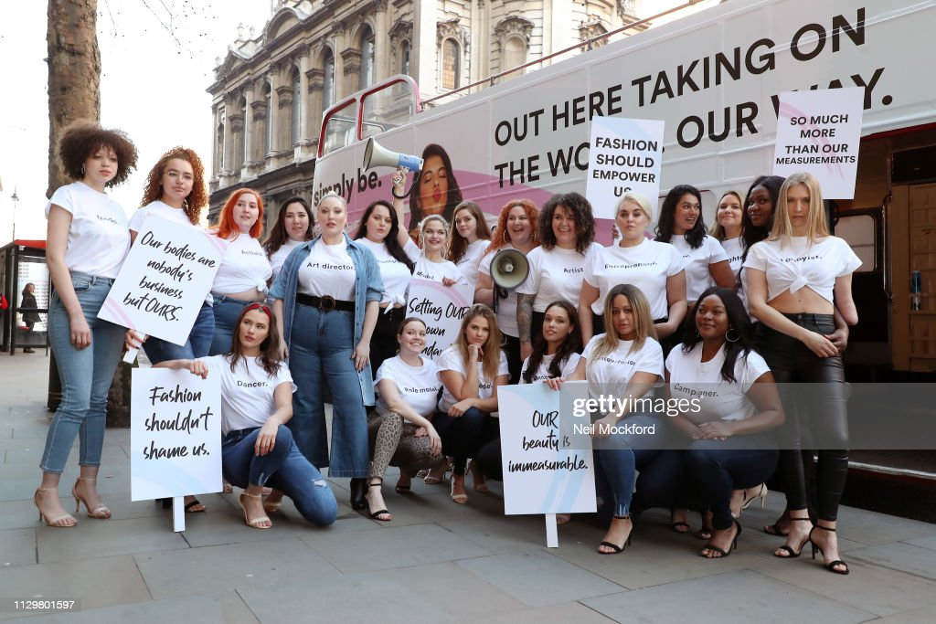 Hayley Hasselhoff Simply Be Protest At LFW : News Photo