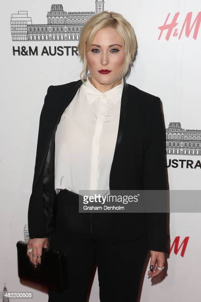 Hayley Hasslehoff attends the VIP launch party for HM Australia at the GPO on April 3 2014 in Melbourne Australia