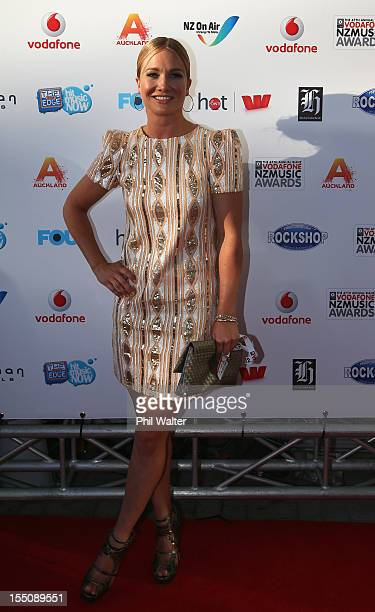 Hayley Holt arrives for the 2012 Vodafone New Zealand Music Awards at Vector Arena on November 1 2012 in Auckland New Zealand