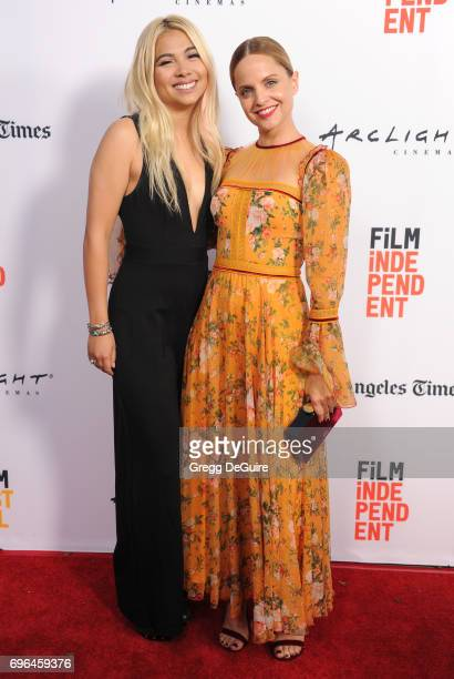 Hayley Kiyoko and Mena Suvari arrive at the 2017 Los Angeles Film Festival Premiere Of 'Becks' at Arclight Cinemas Culver City on June 15 2017 in...