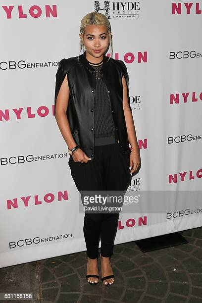 Hayley Kiyoko arrives at NYLON and BCBGeneration's Annual Young Hollywood May Issue Event at HYDE Sunset Kitchen Cocktails on May 12 2016 in West...