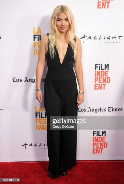 Hayley Kiyoko arrives at the 2017 Los Angeles Film Festival Premiere Of 'Becks' at Arclight Cinemas Culver City on June 15 2017 in Culver City...