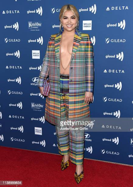 Hayley Kiyoko attends the 30th Annual GLAAD Media Awards at The Beverly Hilton Hotel on March 28 2019 in Beverly Hills California