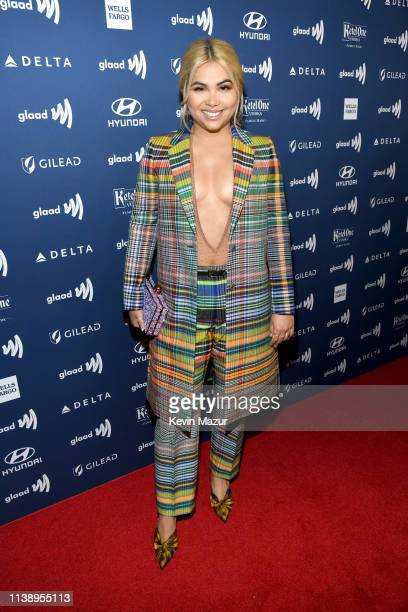 Hayley Kiyoko attends the 30th Annual GLAAD Media Awards Los Angeles at The Beverly Hilton Hotel on March 28 2019 in Beverly Hills California