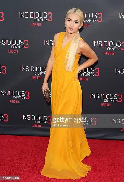 Hayley Kiyoko attends the 'Insidious Chapter 3' Los Angeles Premiere held at TCL Chinese Theatre IMAX on June 4 2015 in Hollywood California