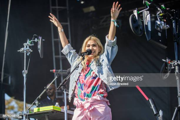 Hayley Kiyoko performs during the Voodoo Music Arts Experience at City Park on October 28 2017 in New Orleans Louisiana