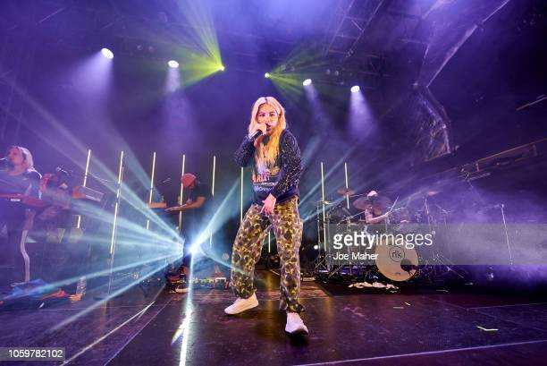 Hayley Kiyoko performs on stage during her Expectations European Tour at O2 Academy Islington on October 26 2018 in London England