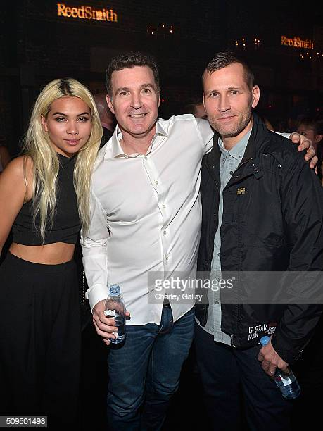 Hayley Kiyoko Reed Smith's Ed Shapiro and DJ Kaskade attend the Reed Smith GRAMMY Party at The Sayers Club on February 10 2016 in Hollywood California