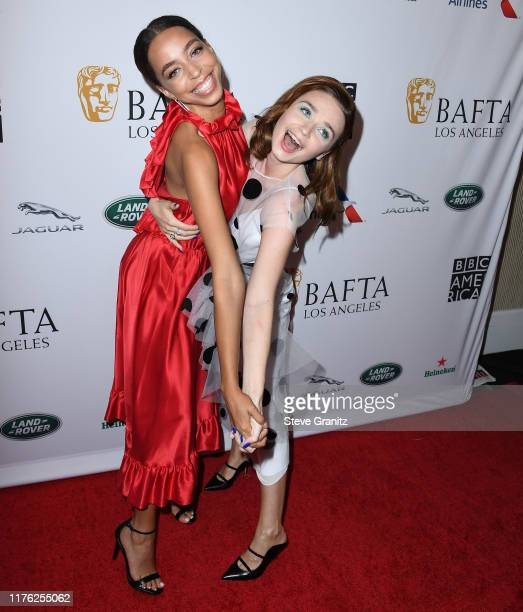 Hayley Law and Jessica Barden arrives at the BAFTA Los Angeles BBC America TV Tea Party 2019 at The Beverly Hilton Hotel on September 21 2019 in...