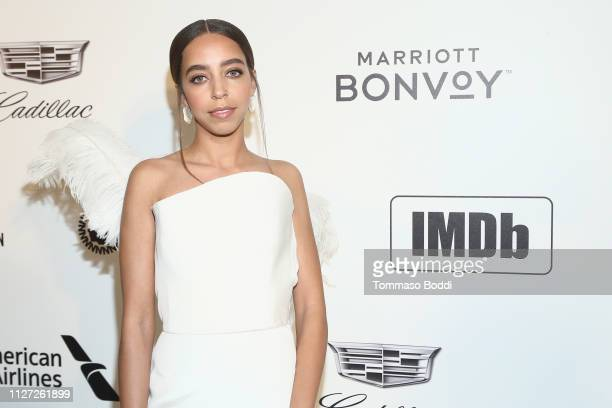 Hayley Law attends IMDb LIVE At The Elton John AIDS Foundation Academy Awards® Viewing Party on February 24 2019 in Los Angeles California