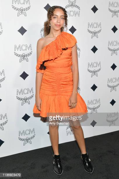 Hayley Law attends MCM Global Flagship Store Grand Opening On Rodeo Drive at MCM Global Flagship Store on March 14 2019 in Beverly Hills California