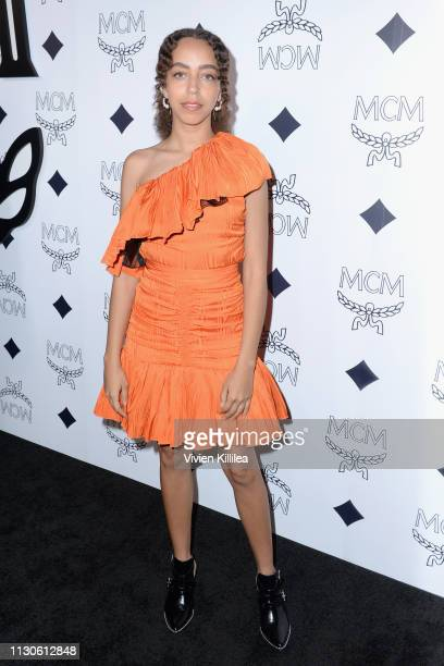 Hayley Law attends the MCM Rodeo Drive Store Grand Opening Event at MCM Rodeo Drive on March 14 2019 in Beverly Hills California