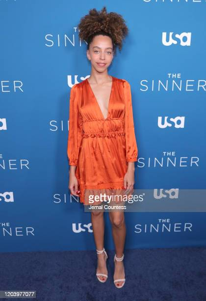"""Hayley Law attends the """"The Sinner"""" Season 3 premiere at The London West Hollywood on February 03, 2020 in West Hollywood, California."""