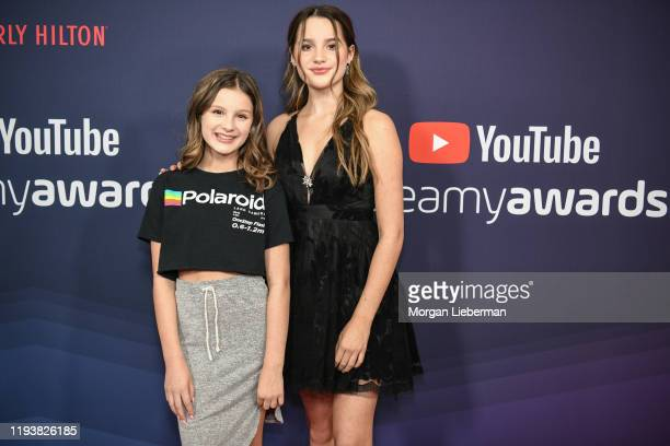 Hayley LeBlanc and Annie LeBlanc arrive at the 9th Annual Streamy Awards at The Beverly Hilton Hotel on December 13, 2019 in Beverly Hills,...