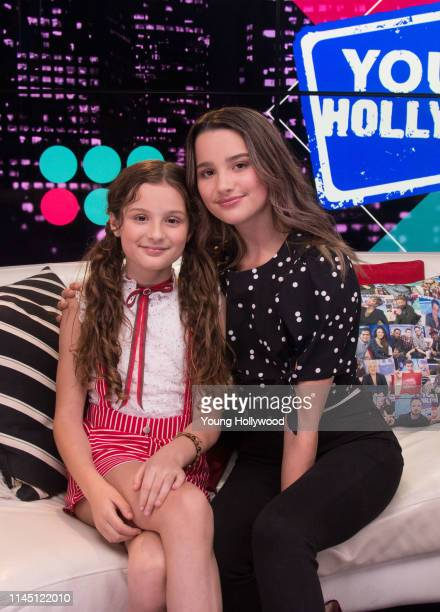 Hayley LeBlanc and Annie LeBlanc at the Young Hollywood Studio on April 25 2019 in Los Angeles California