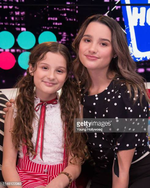 Hayley LeBlanc and Annie LeBlanc at the Young Hollywood Studio on April 25, 2019 in Los Angeles, California.