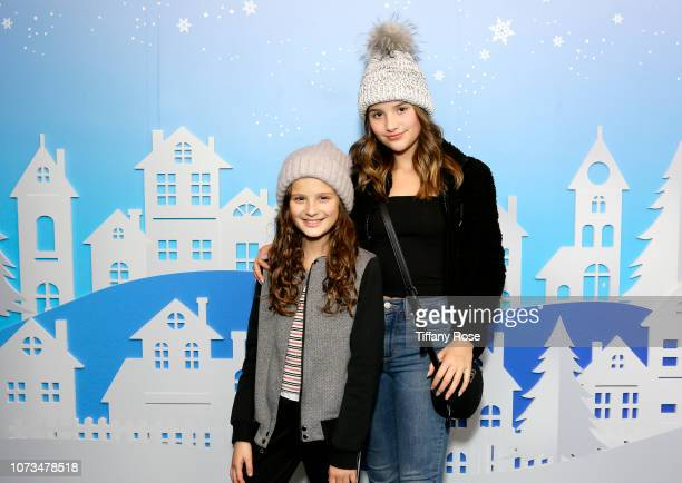 Hayley LeBlanc and Annie LeBlanc attend Instagram's #Instaskate 2018 at LA Kings Holiday Ice LA Live on November 27 2018 in Los Angeles California