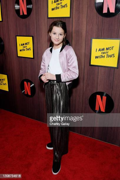 """Hayley LeBlanc attends the premiere of Netflix's """"I Am Not Okay With This"""" at The London West Hollywood on February 25, 2020 in West Hollywood,..."""