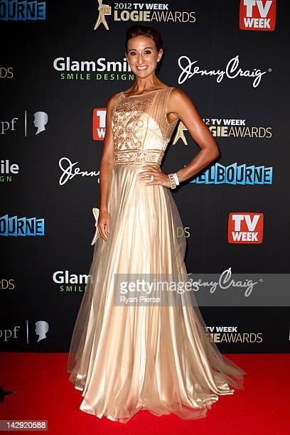 Hayley Lewis arrives at the 2012 Logie Awards at the Crown Palladium on April 15 2012 in Melbourne Australia