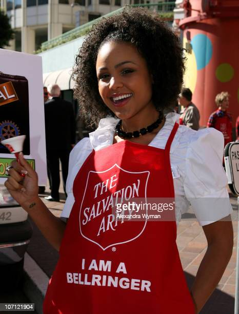 Hayley Marie Norman during The 20th Annual Salvation Army Celebrity/Rotary Bell Ring In the Holiday Season at Ernst Young Plaza in Los Angeles...