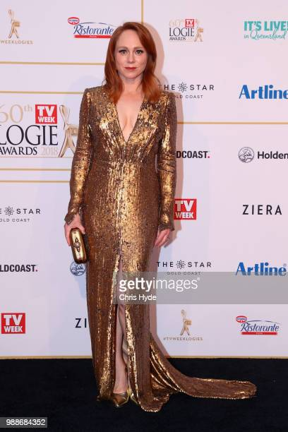 Hayley McElhinney arrives at the 60th Annual Logie Awards at The Star Gold Coast on July 1 2018 in Gold Coast Australia
