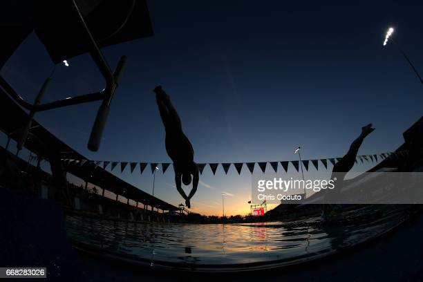 Hayley McIntosh competes in the finals of the women's 400 meter freestyle on day one of the Arena Pro Swim Series Mesa at Skyline Aquatic Center on...