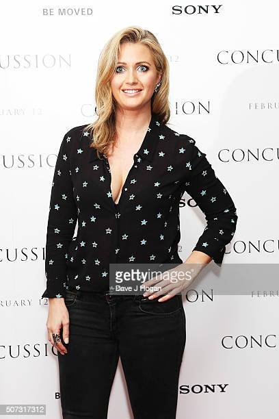 Hayley McQueen attends a special screening of 'Concussion' at Ham Yard Hotel on January 28 2016 in London England