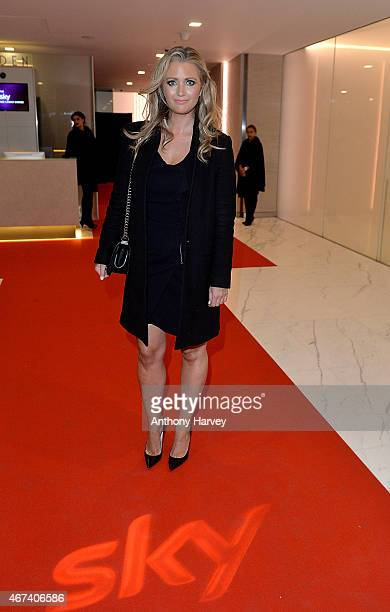 Hayley McQueen attends the Sky Red Carpet Dinner during Advertising Week Europe on March 23 2015 in London England