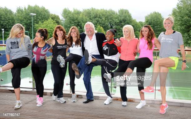 Hayley McQueen, Chelsee Healey, Kay Burley, Zoe Hardman, Sir Richard Branson, Angelica Bell, Lydia Bright, Michelle Heaton and Nell McAndrew attend a...