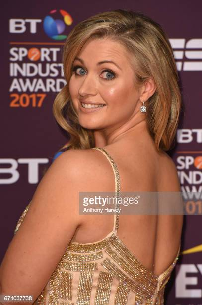 Hayley McQueen poses on the red carpet during the BT Sport Industry Awards 2017 at Battersea Evolution on April 27 2017 in London England The BT...