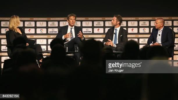 Hayley McQueen Sky Sports Presenter Edwin van der Sar AFC Ajax CEO Jaap Kalma AC Milan Ferrari former Director and Paul Barber Brighton Hove Albion...
