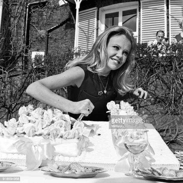 Hayley Mills celebrates her 21st birthday at her parents home at Richmond Hill Surrey 18th April 1967