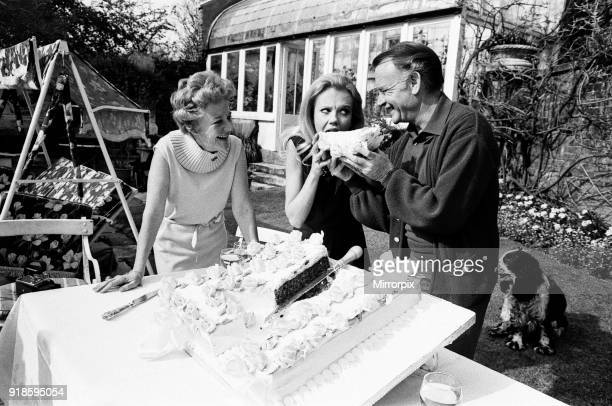 Hayley Mills celebrates her 21st birthday at her parents home at Richmond Hill Surrey Hayley is pictured with her parents Mary Hayley Bell and actor...
