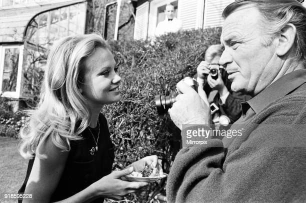 Hayley Mills celebrates her 21st birthday at her parents home at Richmond Hill Surrey Hayley's father actor John Mills taking a photo of his daughter...