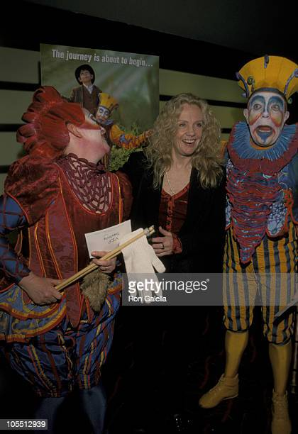 Hayley Mills with Clowns during Cirque du Soleil Journey of Man Performance May 2 2000 at Sony Theaters Lincoln Square in New York City New York...